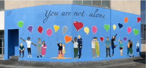 Mural next to UCLA Vine Street Clinic by artist Suzanne Erickson