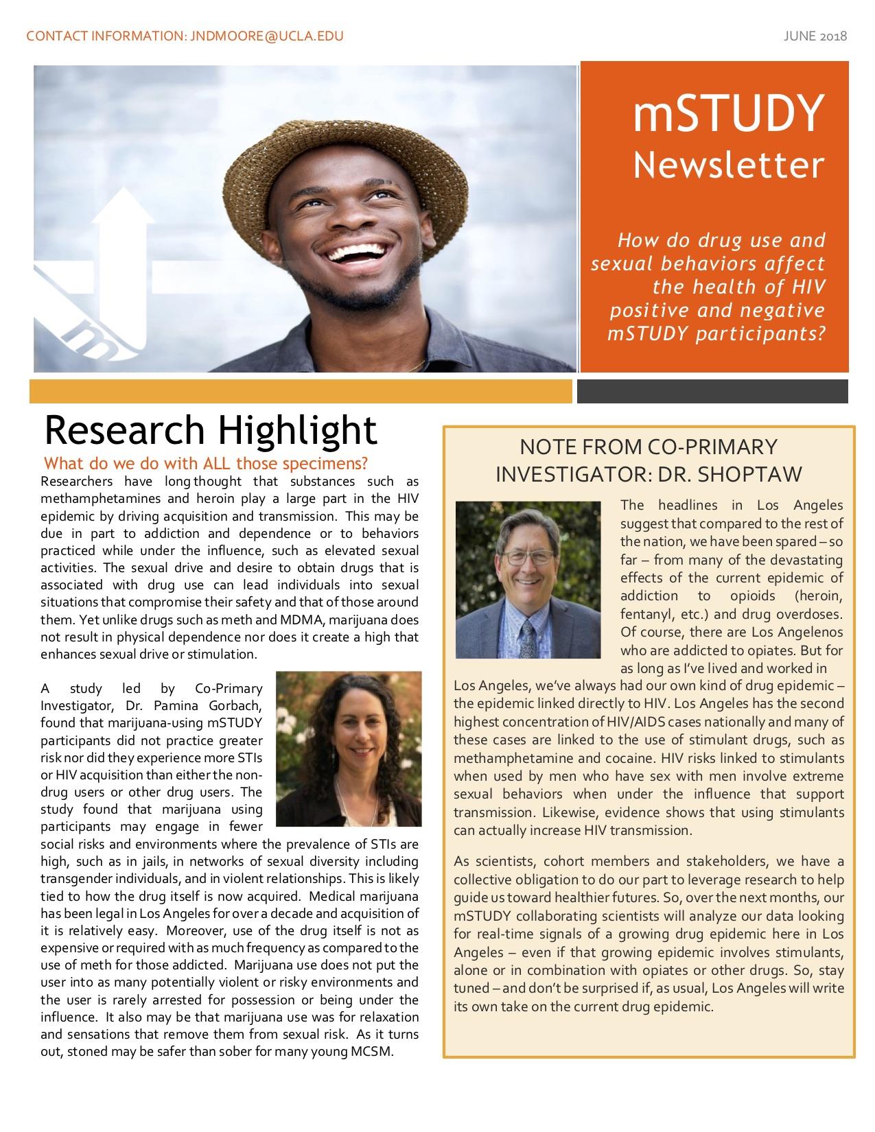 mSTUDY Newsletter June 2018
